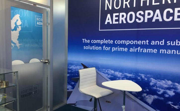 Modular Exhibition Stand By Me : Northern aerospace exhibition bespoke stand